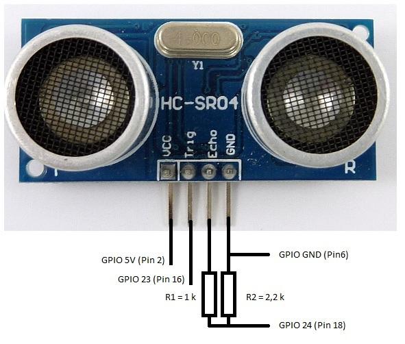 HC-SR04-Raccordement